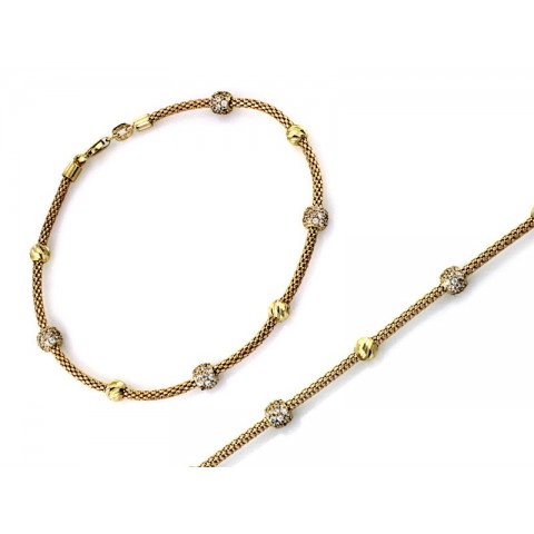 Złota bransoleta beads
