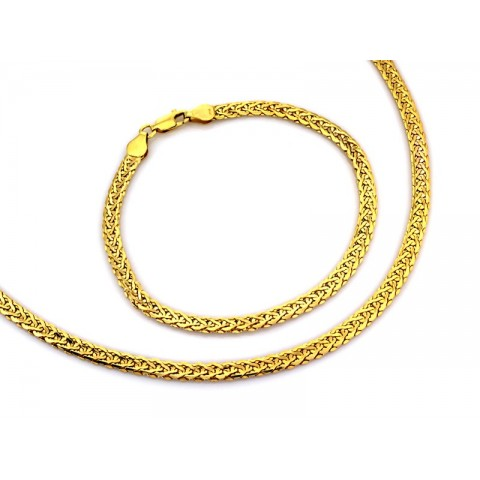 Złoty komplet bransoletka i naszyjnik