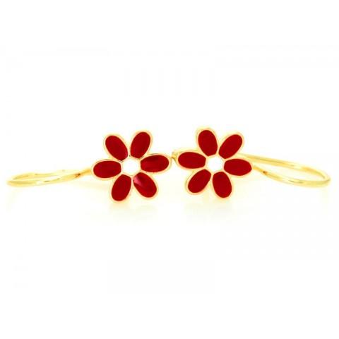 Kolczyki złote kwiatuszki
