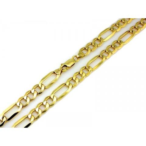 Łańcuszek złoty splot Figaro