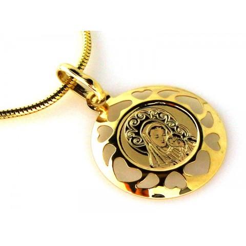 Medalik Matka Boska z Dzieciątkiem
