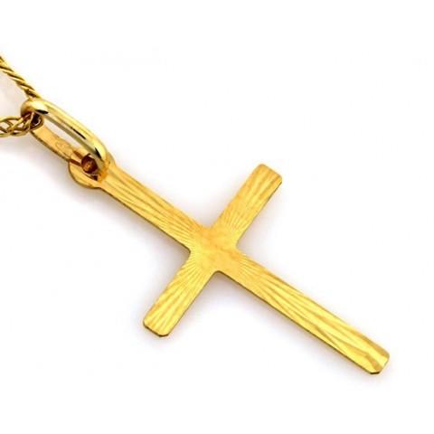 Złoty krzyżyk bez wizerunku