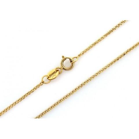 Łańcuszek złoty podwójny splot