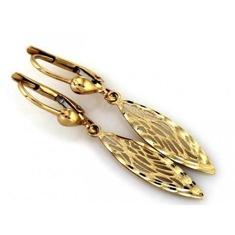 Złote kolczyk wiszące