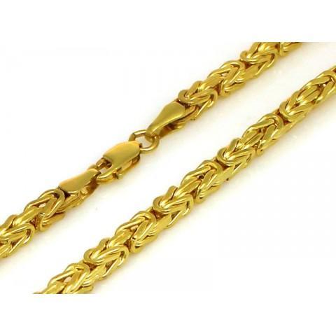 Złoty łańcuszek splot królewski