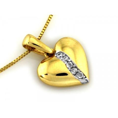 Złota zawieszka okrągła ażurowa