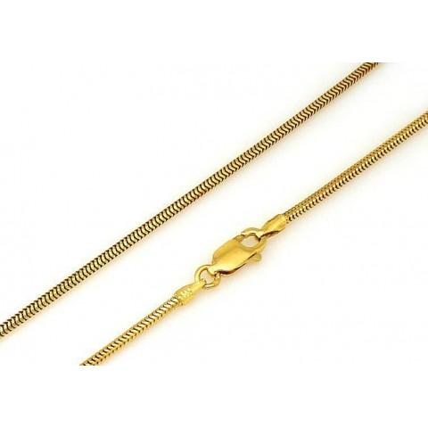 Złoty elastyczny łańcuszek LINKA TONDO