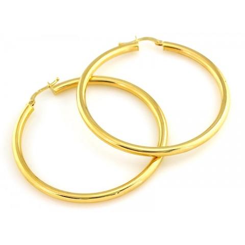 Kolczyki złote koła