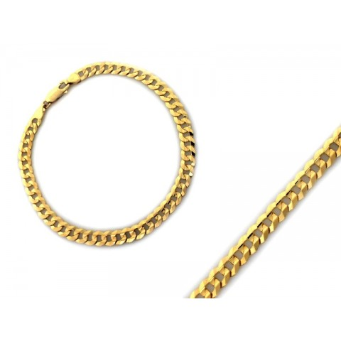 Bransoletka złota splot pancerka