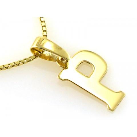 Zawieszka złota literka P