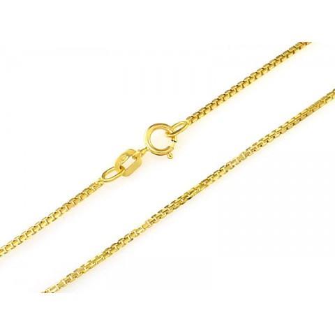 Łańcuszek złoty splot kostka