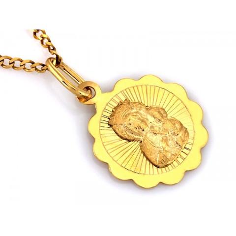 medalik z Matką Boską Częstochowską