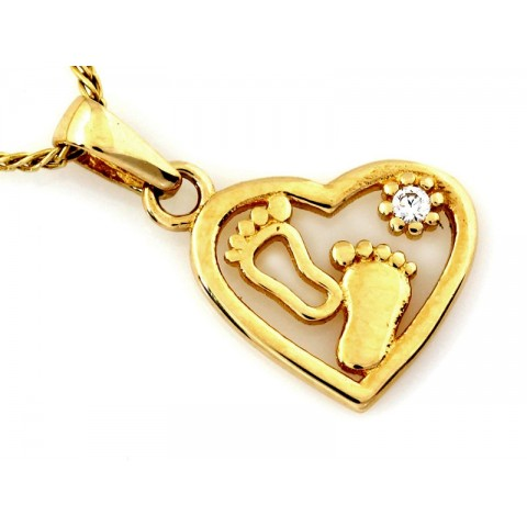 Złoty medalik Maryja