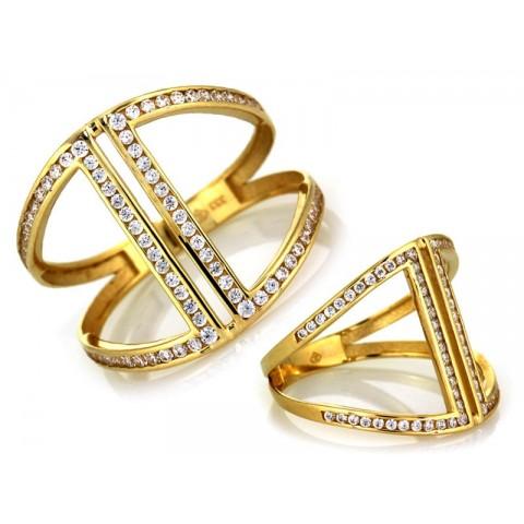 Szeroki złoty pierścionek