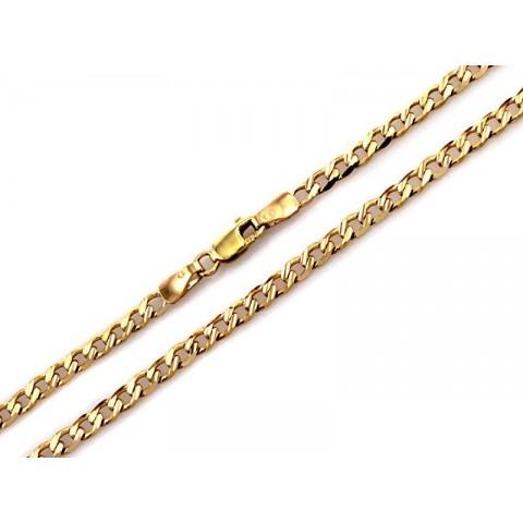 Łańcuszek pancerka z żółtego złota