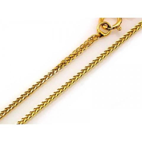 Złoty łańcuszek lisi ogon FOX diamentowany