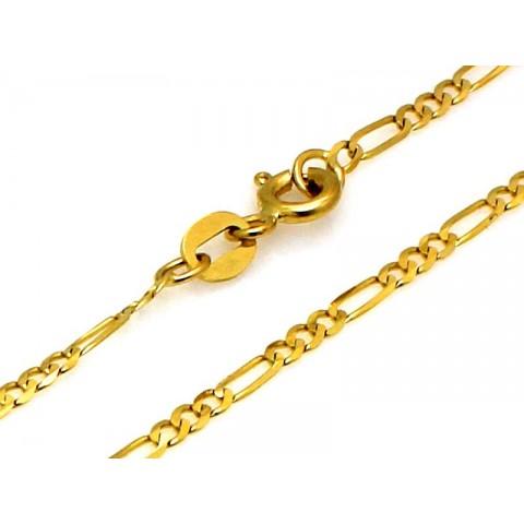 Delikatny łańcuszek złoty Figaro