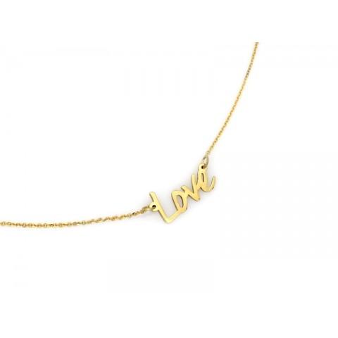 Celebrytka złota napis LOVE