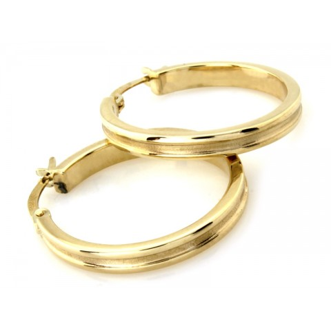 Kolczyki złote KOŁA 26mm