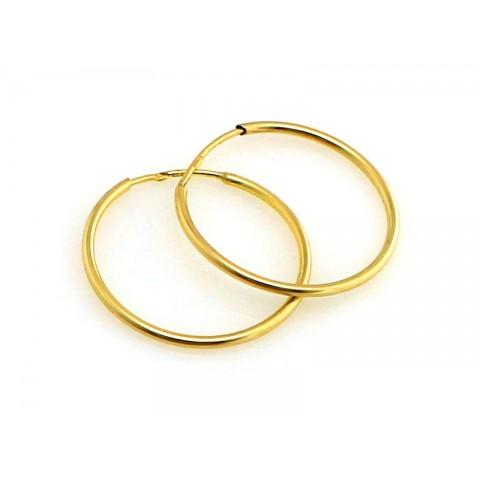 Kolczyki złote koła kółka 20mm