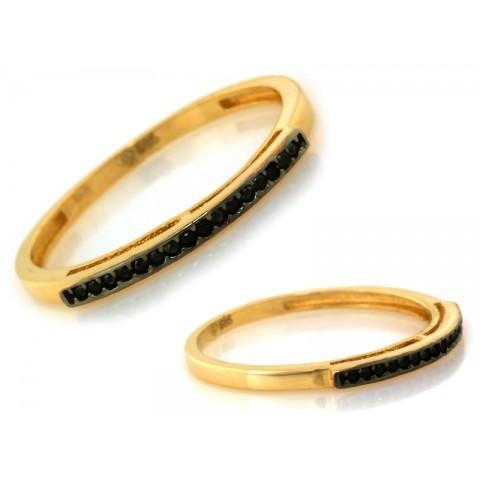 Pierścionek złoty subtelny z cyrkoniami