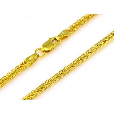 Łańcuszek złoty splot lisi ogon
