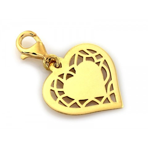 Zwieszka złota serce z grawerem