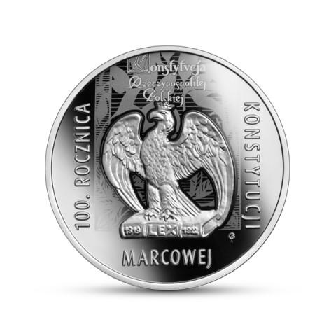 100. rocznica Konstytucji marcowej 10 zł Ag