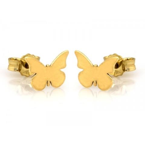 Kolczyki złote motylki na sztyfcie