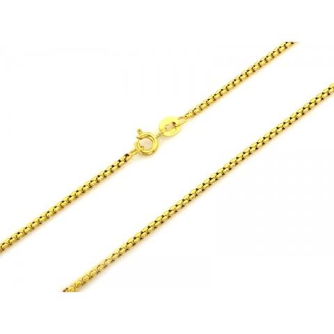 Łańcuszek złoty elegancki KOSTKA