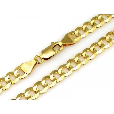 Łańcuszek złoty pełny męski PANCERKA