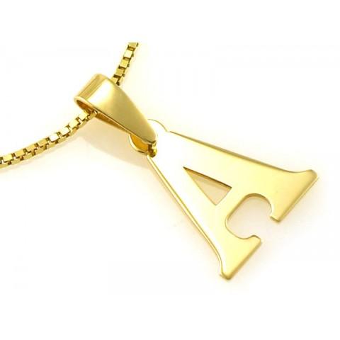 Zawieszka złota literka A