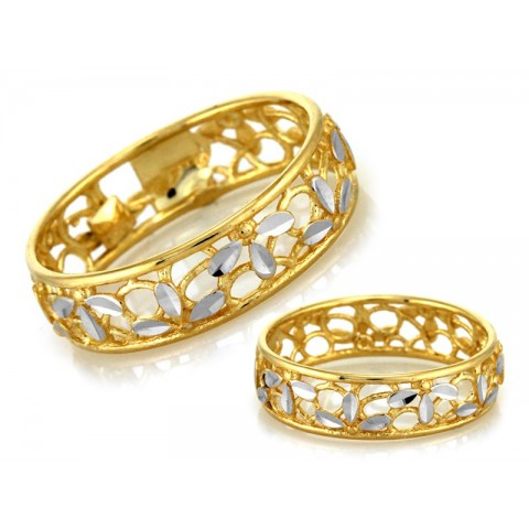 Pierścionek złoty do obrączki, obrączkowy
