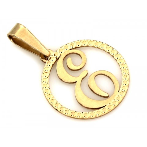 Zawieszka złota z literką E