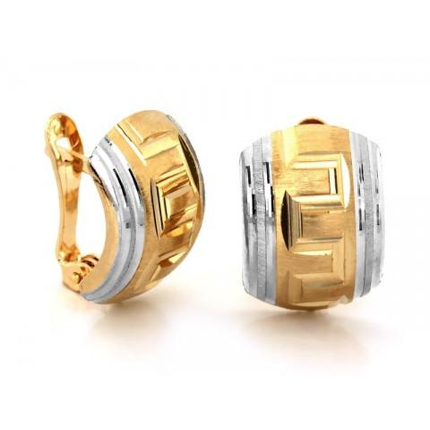 Kolczyki złote z grecką drogą