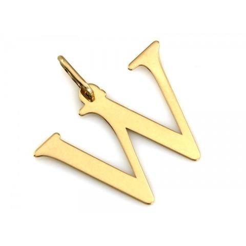 Zawieszka złota literka W