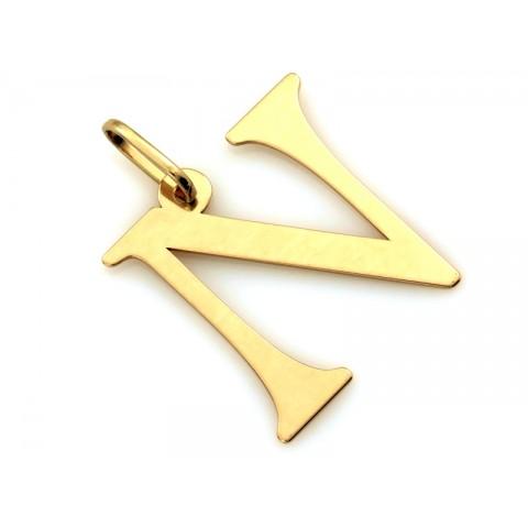 Zawieszka złota literka N