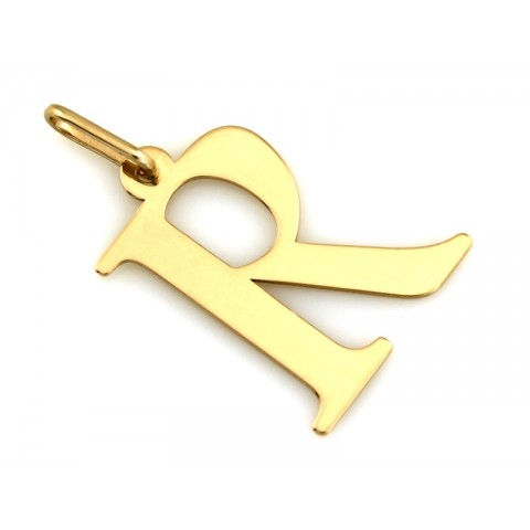 Zawieszka złota literka R
