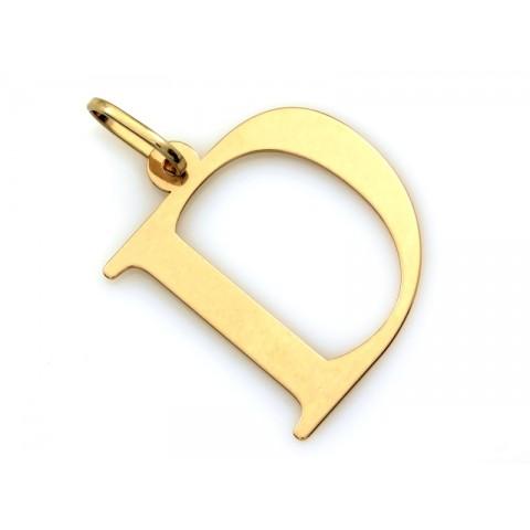 Zawieszka złota literka D