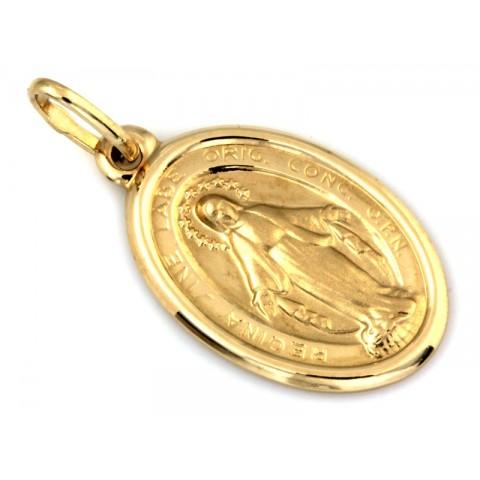 Złota zawieszka Cudowny Medalik