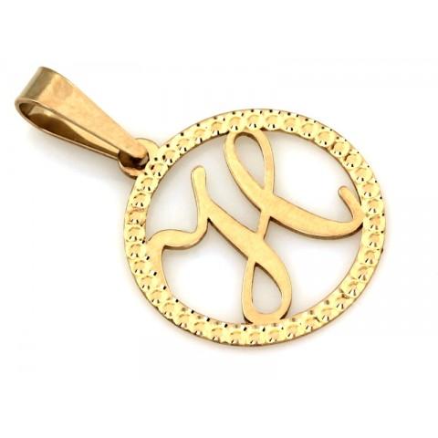 Zawieszka złota z literką H