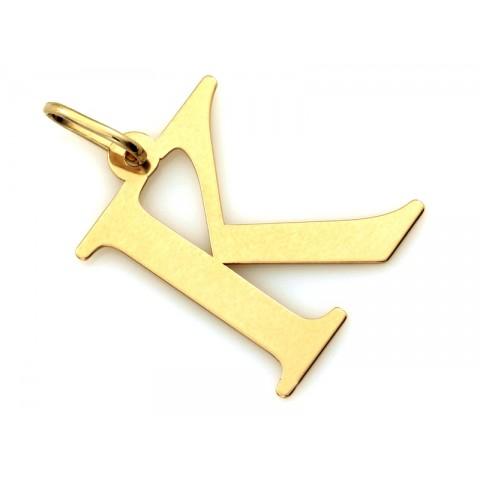 Zawieszka złota literka K