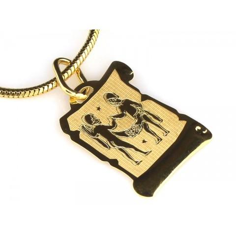 Zawieszka złota znak zodiaku BLIŹNIĘTA