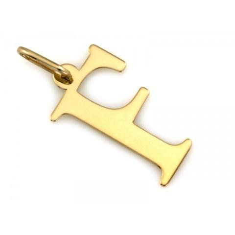 Zawieszka złota literka F