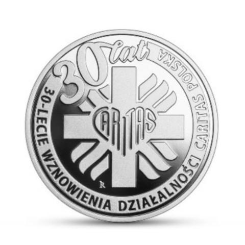 10 zł 2021 30-lecie działalności Caritas Polska